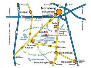 Anfahrt nach Enderndorf