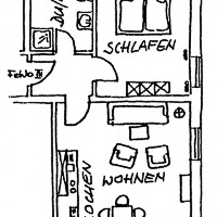 Wohnung 3 F*** - Skizze